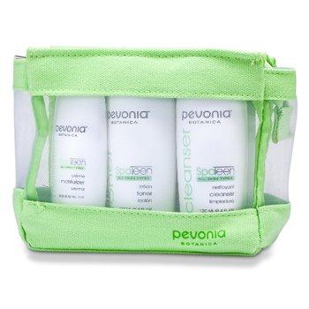 SpaTeen All Skin Types Kit: Cleanser 120ml + Toner 120ml + Moisturizer 50ml  3pcs+1bag