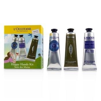 Happy Hands Kit: 2x  Shea Butter 30ml + 2x Lavender 30ml + 2x Verbena Cooling Hand Cream Gel 30ml  6x30ml/1oz