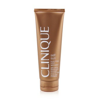 Clinique Self-Sun Tinted Losion Tubuh - Terang / Medium  125ml/4.2oz