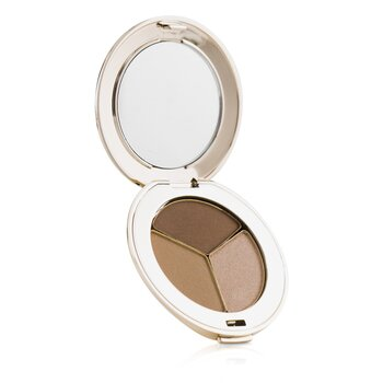 Jane Iredale Trio oční stíny PurePressed Triple Eye Shadow - Triple Cognac  2.8g/0.1oz