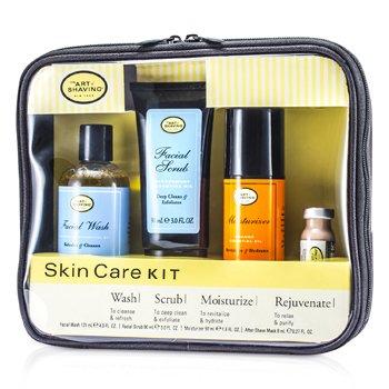 The Art Of Shaving Set Cuidado de la Piel ( Piel Sensible): Jabón Facial+ Exfoliante Facial+ Hidratante + Máscara después Afeitado  4pcs