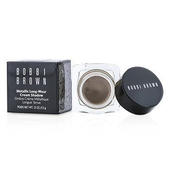 Bobbi Brown Metallic Long Wear Cream Shadow - # 04 Brown Metal  3.5g/0.12oz