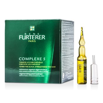Rene Furterer Complexe 5 Regenerating Plant Extract (Tones the Scalp/ Strengthens the Hair)  12x5ml/0.16oz