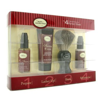 The Art Of Shaving Starter Kit - Sandalwood: Aceite Pre-Afeitado + Crema Afeitado + Brocha + Bálsamo After Shave  4pcs