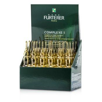 Rene Furterer Regenerująco-wzmacniający tonik do włosów w ampułkach Complexe 5 Regenerating Plant Extract (Tones The Scalp, Strengthens The Hair)  24x5ml/0.16oz