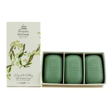 Woods Of Windsor Lily Of The Valley Fine Jabón Inglés  3x100g/3.5oz