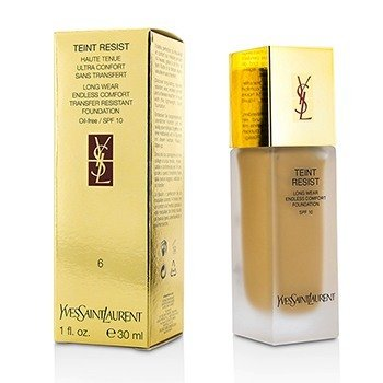 Yves Saint Laurent Teint Resist Long Wear Transfer Resistant Foundation SPF10 (Oil Free) - #06 Gold Beige  30ml/1oz