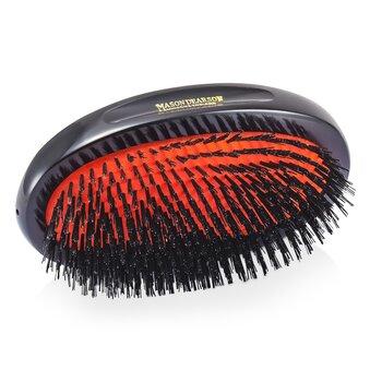 Boar Bristle - Sensitive Military Pure Bristle Medium Size Hair Brush (Dark Ruby)  1pc