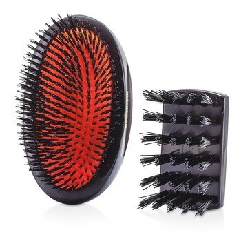 Mason Pearson Boar Bristle - Sensitive Military Pure Bristle Medium Size Hair Brush (Dark Ruby)  1pc