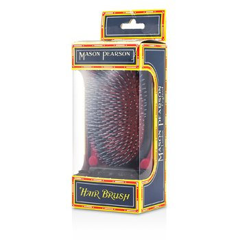 Boar Bristle & Nylon - Popular Military Bristle & Nylon Large Size Hair Brush (Dark Ruby)  1pc