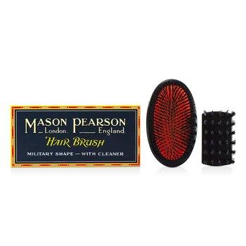 Szczotka do włosów z włosia dzika Boar Bristle - Small Extra Military Pure Bristle Medium Size Hair Brush (Dark Ruby)  1 sztuka