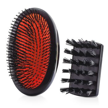 Mason Pearson Szczotka do włosów z włosia dzika Boar Bristle - Small Extra Military Pure Bristle Medium Size Hair Brush (Dark Ruby)  1 sztuka