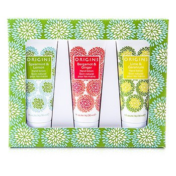 Origins Hand Therapy: 3x Hand Lotion 30ml/1oz  3x30ml/1oz