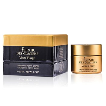 Elixir Des Glaciers Votre Visage Swiss Poly-Active Cream (New Packaging)  50ml/1.7oz