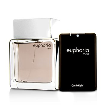 Euphoria Men Coffret: Eau De Toilette Spray 100ml/3.4oz + Eau De Toilette 20ml/0.67oz (Unboxed)  2pcs