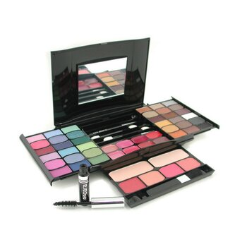 Cameleon MakeUp Kit G2327 (2x Powder, 36x Eyeshadows, 4x Blusher, 1xMascara, 1xEye Pencil, 8x Lip Gloss, 4x Applicators)