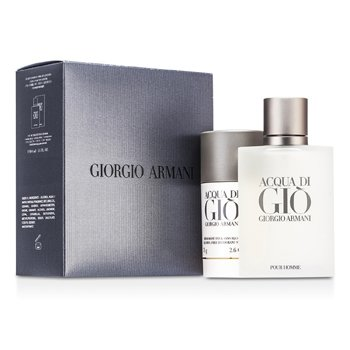 Giorgio Armani Acqua Di Gio Coffret: Eau De Toilette Spray 100ml + Deodorant Stift 75g  2pcs
