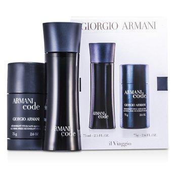 Giorgio Armani Armani Code Kofre: EDT Sprey 75ml + Stik Deodorant 75g  2pcs