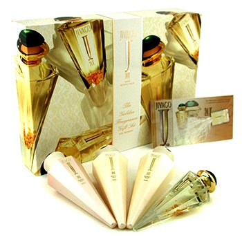 Jivago 24K Coffret: Eau De Parfum Spray 50ml/1.7oz + Body Lotion 125ml/4.2oz + Body Cream 125ml/4.2oz + Shower Gel 125ml/4.2oz  4pcs