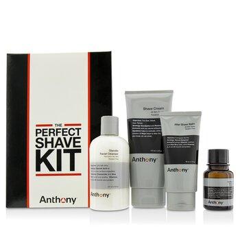 Logistics For Men Kit Afeitado Perfecto: Limpiadora + Aceite Pre-Afeitado + Crema de Afeitar + Crema Después de Afeitar  4pcs