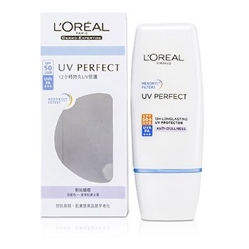 L'Oreal Dermo-Expertise UV Perfect Larga Duración UVA/UVB Protector SPF50 PA+++ - #Anti-Opacidad  30ml/1oz