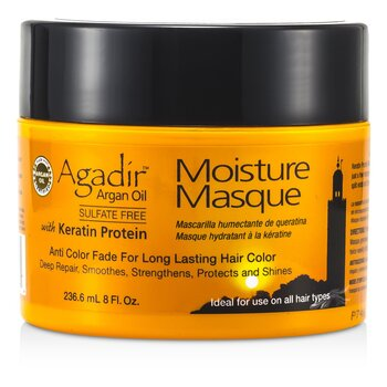 Keratin Protein Moisture Masque (Anti Color Fade For Long Lasting Hair Color, Ideal For Use on All Hair Types)  236.6ml/8oz