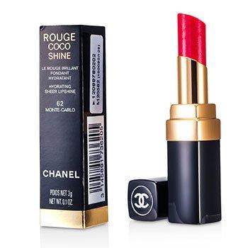 Chanel Son Bóng Sáng Dưỡng Ẩm Mịn Môi Rouge Coco - # 62 Monte Carlo  3g/0.1oz