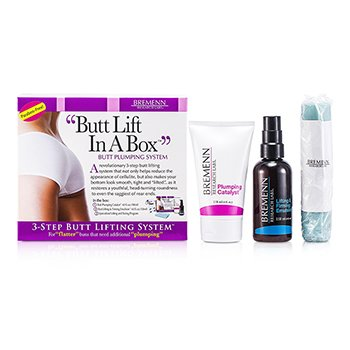 Butt Lift In A Box: 1x Butt Plumping Catalyst Cream 118ml/4oz + Butt Lifting & Firming Emulsion 118ml/4oz + Exercise Band 1pc  3pcs