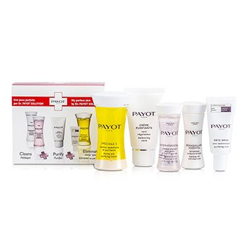 Travel Set: Speciale 5 + Creme Purifiante + Demaquillant Essentiel + Lotion Essentielle + Pate Grise  5pcs