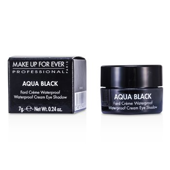Make Up For Ever Aqua Black Waterproof Sombra de Ojos Cremosa- #1 ( Black )  7g/0.24oz