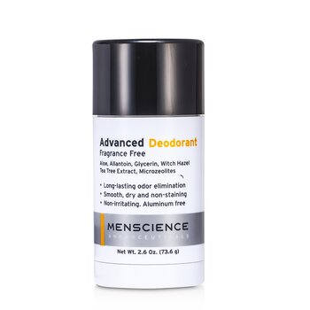 Menscience Advanced Deodorant - Fragrance Free  73.6g/2.6oz