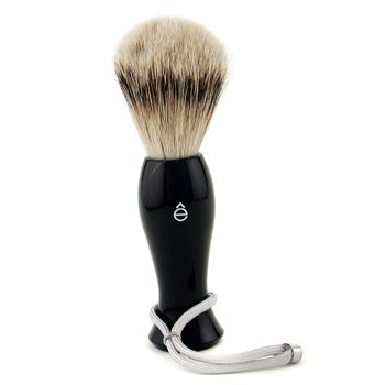 EShave Shave Brush Silvertip - Black  1pc