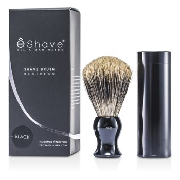 EShave Brocha Afeitado Fina con Envase - Black  1pc