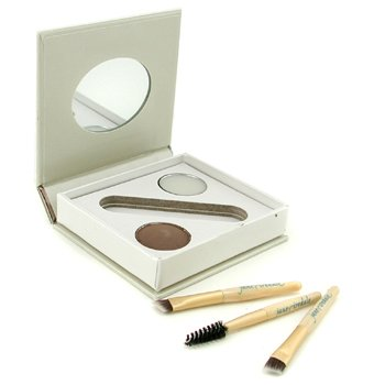 Jane Iredale Bitty Brow Kit - Brunette (1x Brow Powder,1x Brow Wax, 3x Applicator)  2.4g/0.085oz