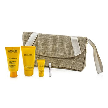 Decleor Source D'Eclat Set: Moisturiser + Peel-Off Mask + Night Balm + Aromessence Neroli + Bag  4pcs+1bag