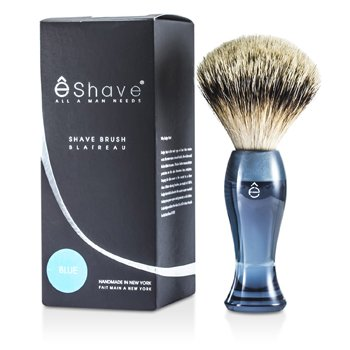 EShave Finest Badger Long Shaving Brush - Blue  1pc