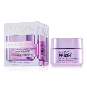 L'Oreal Hydra Fresh Hydration+ Antiox Active Emulsie Supremă  50ml/1.7oz