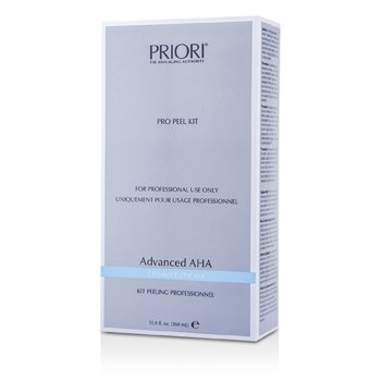 Priori Advanced AHA PRO Peel Kit (Salon Product) : Pre-Peel Solution + Multi-Layer Peeling Gel  2x180ml/6oz