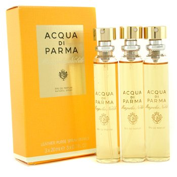 Acqua Di Parma Magnolia Nobile Leather Purse Spray Refills Eau De Parfum  3x20ml