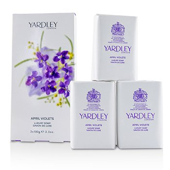 April Violets Luxury Soap  3x100g/3.5oz