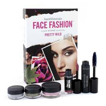 BareMinerals Kit BareMinerals Face Fashion Collection - The Look Of Now Pretty Wild ( Blush + 2xSombra  + Rímel + batom  )  5pcs