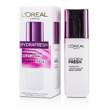 L'Oreal โลชั่นสูตรน้ำนมให้ความชุ่มชื้นทั้งวัน Hydra Fresh   125ml/4.2oz