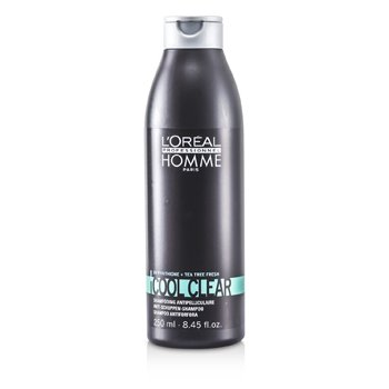 L'Oreal Professionnel Homme Cool Clear Anti-Schuppen Shampoo  250ml/8.45oz
