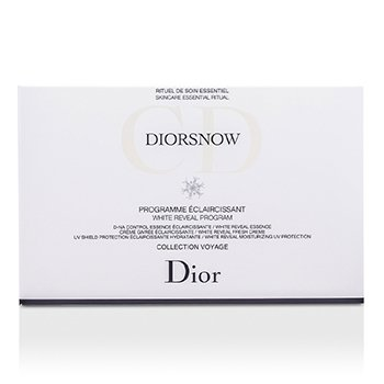 Diorsnow White Reveal Program Set: White Reveal Essence + Fresh Cream + Moisturizing UV Protection SPF 50 + Bag  3pcs+1bag