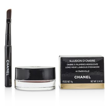 Chanel Sombra Illusion D'Ombre Long Wear Luminous Eyeshadow - # 82 Emerville  4g/0.14oz