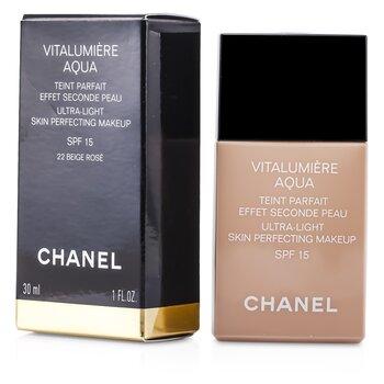Chanel Vitalumiere Aqua Ultra Màu Sáng Da Perfecting Make Up SFP 15 - # 22 Beige Rose  30ml/1oz