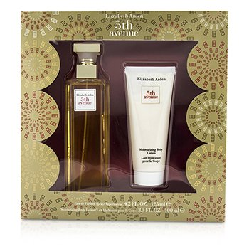 Elizabeth Arden 5th Avenue Coffret: Eau De Parfum Spray 125ml/4.2oz + Moisturizing Body Lotion 100ml/3.3oz  2pcs