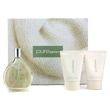 DKNY Pure Warmth A Drop Of Verbena Coffret: Eau De Parfum Spray 100ml/3.4oz + Manteca Corporal 100ml/3.4oz + Jab�n Corporal 100ml/3.4oz  3pcs