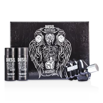Diesel Only The Brave Tattoo Coffret: Eau De Toilette Spray 75ml/2.5oz + 2x Bálsamo Para Después de Afeitar 50ml/1.7oz  3pcs