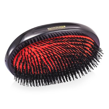 Boar Bristle - Large Extra Military Pure Bistle Large Size Hair Bush - iso hiusharja ( Dark Ruby )  1pc